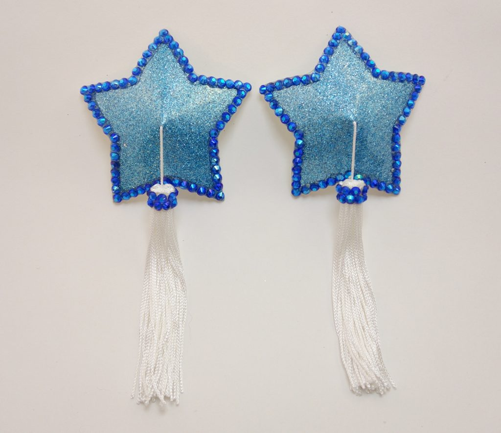 Star blue tassel