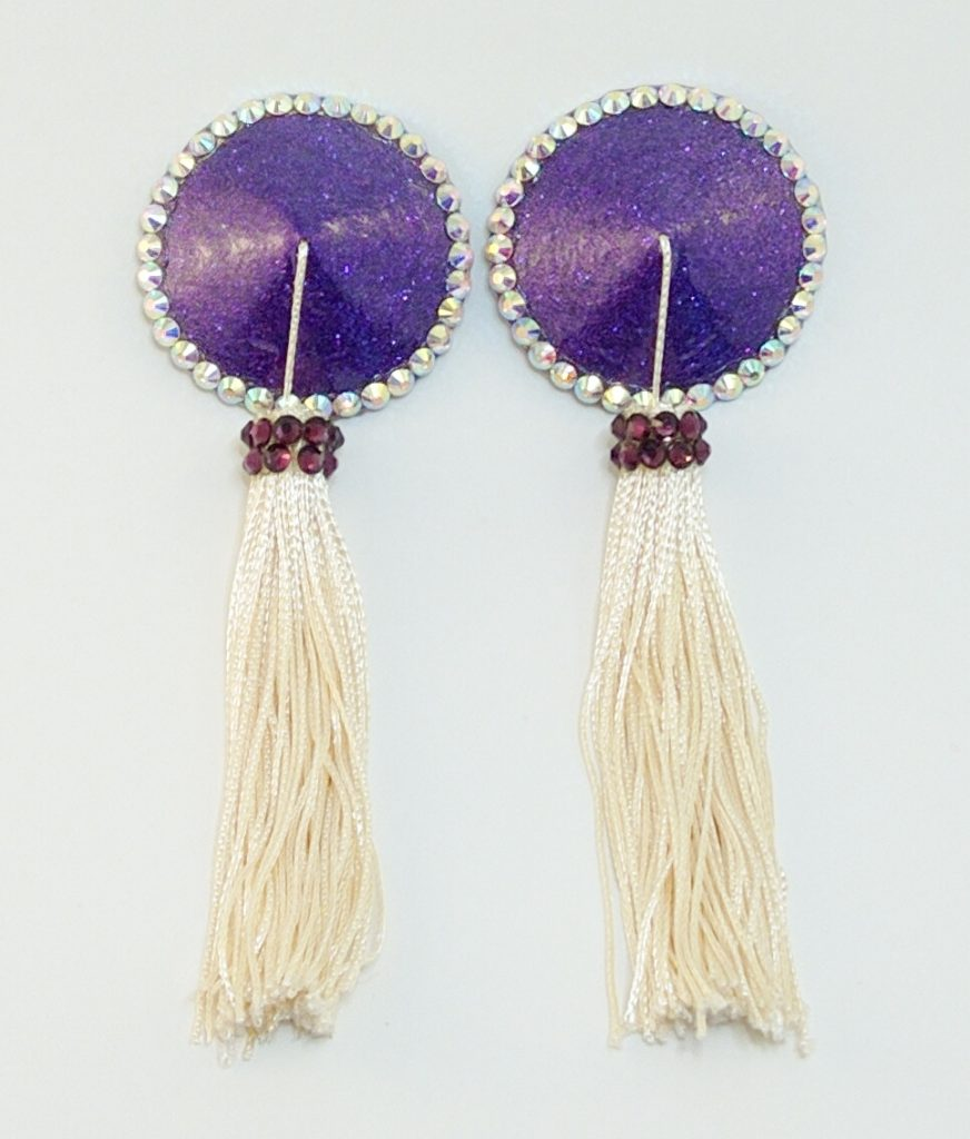 Tassel purple white
